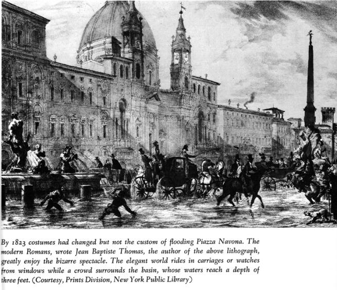 flooding Piazza Navona