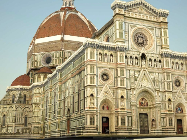 Florence Duomo, rendered by VRay
